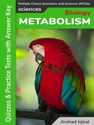 cover image of Metabolism Multiple Choice Questions and Answers (MCQs)