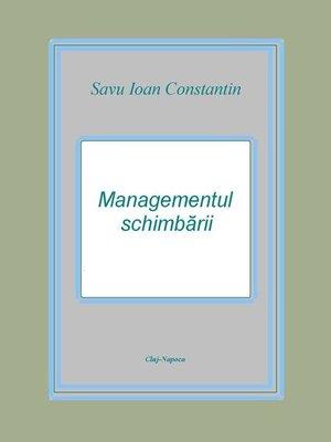 cover image of Managementul schimbarii