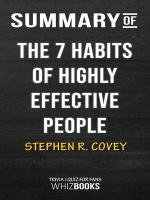 cover image of Summary of the 7 Habits of Highly Effective People by Stephen Covey / Trivia/Quiz for Fans