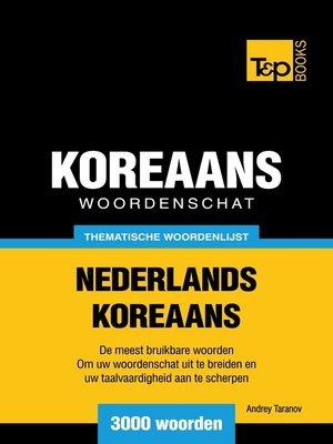 cover image of Thematische woordenschat Nederlands-Koreaans