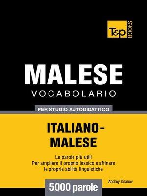 cover image of Vocabolario Italiano-Malese per studio autodidattico