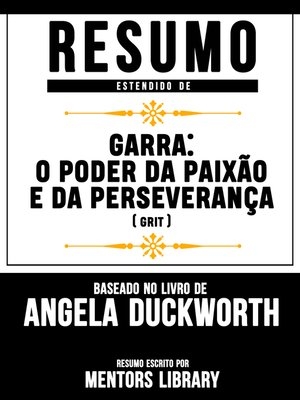 "cover image of Resumo Estendido De ""Garra"