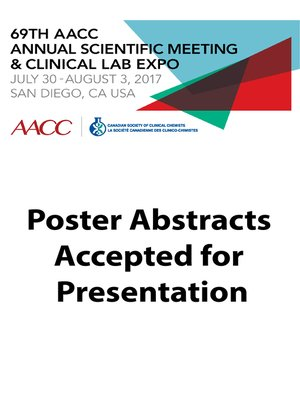 69th aacc annual scientific meeting abstract ebook by american 69th aacc annual scientific meeting abstract ebook by american association for clinical chemistry fandeluxe Gallery