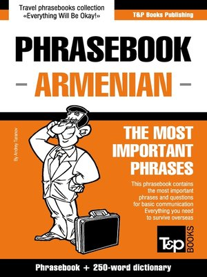cover image of English-Armenian phrasebook and 250-word mini dictionary