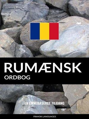 cover image of Rumænsk ordbog