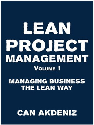cover image of Lean Project Management Volume 1