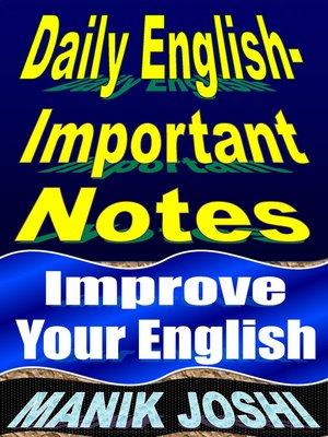 cover image of Daily English- Important Notes