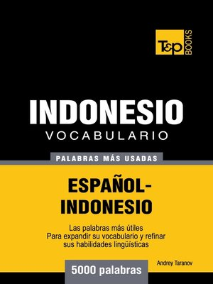 cover image of Vocabulario Español-Indonesio
