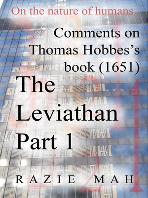 cover image of Comments on Thomas Hobbes Book (1651) the Leviathan Part 1