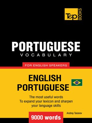 cover image of Brazilian Portuguese Vocabulary for English Speakers