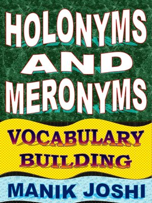 cover image of Holonyms and Meronyms