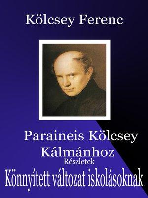 cover image of Parainesis Kölcsey Kálmánhoz