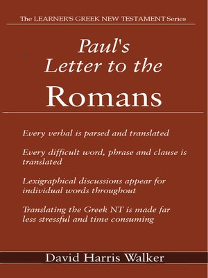 cover image of Paul's Letter to the Romans