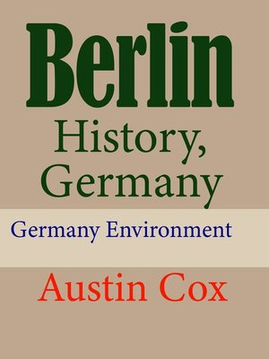 cover image of Berlin History, Germany