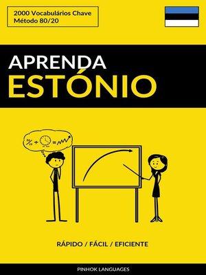 cover image of Aprenda Estónio
