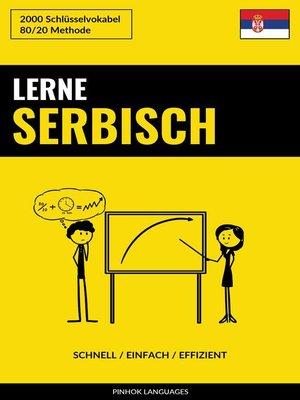 cover image of Lerne Serbisch