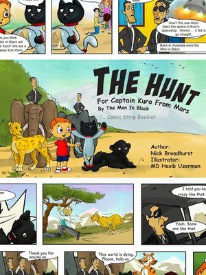 cover image of The Hunt For Captain Kuro From Mars by the Men In Black Comic Strip Booklet