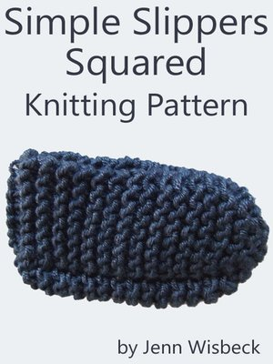 cover image of Simple Slippers Squared Knitting Pattern