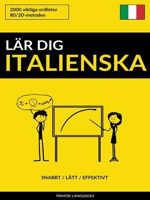 cover image of Lär dig Italienska