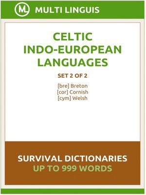 cover image of Celtic Languages Survival Dictionaries (Set 2 of 2)