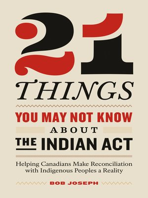 cover image of 21 Things You May Not Know About the Indian Act