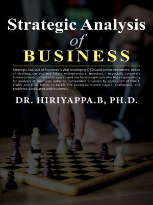 cover image of Strategic Analysis of Business