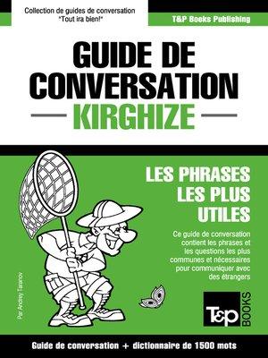 cover image of Guide de conversation Français-Kirghize et dictionnaire concis de 1500 mots