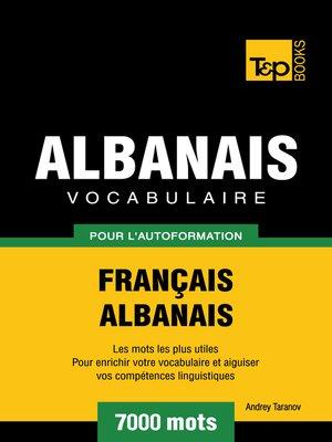 cover image of Vocabulaire Français-Albanais pour l'autoformation