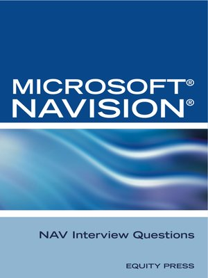 cover image of Microsoft NAV Interview Questions