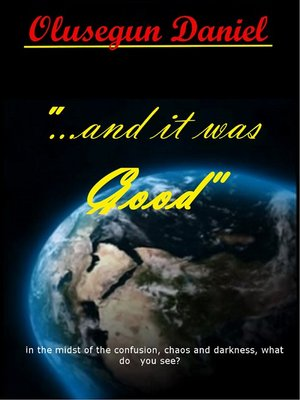 "cover image of ""...and it was Good"""