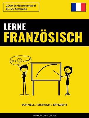 cover image of Lerne Französisch