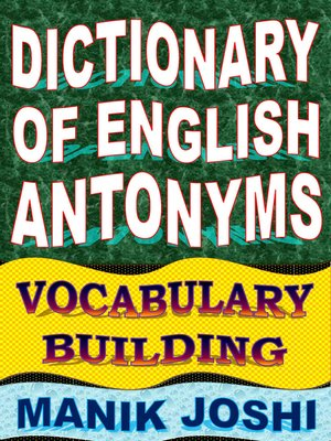 cover image of Dictionary of English Antonyms