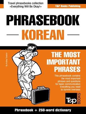 cover image of Phrasebook Korean