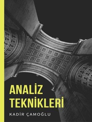 cover image of Analiz Teknikleri
