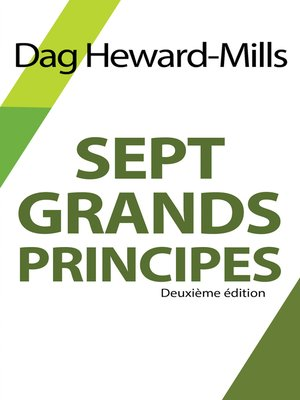cover image of Sept grands principes