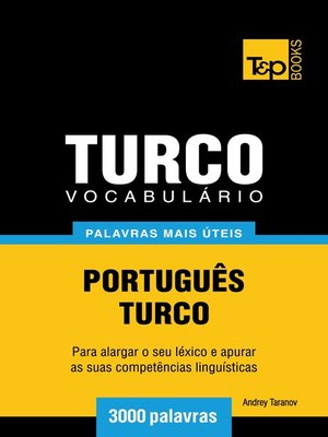cover image of Vocabulário Português-Turco