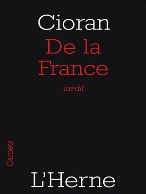 cover image of De la France