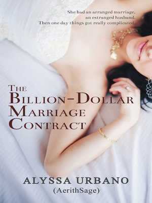 The BillionDollar Marriage Contract By Alyssa Urbano  Overdrive