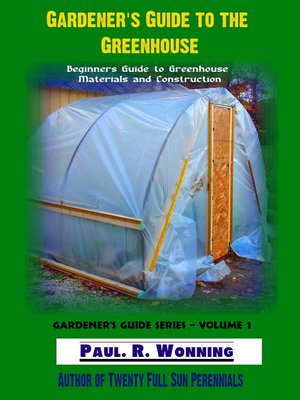 cover image of Gardener's Guide to the Greenhouse