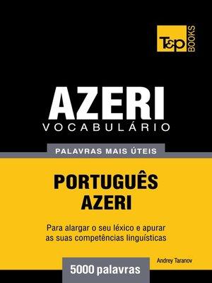 cover image of Vocabulário Português-Azeri