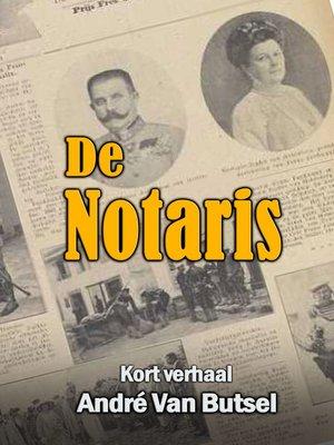 cover image of De Notaris