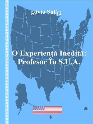 cover image of O Experiență Inedită