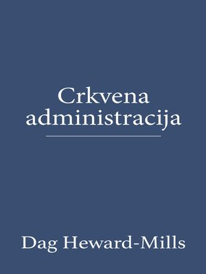 cover image of Crkvena Administracija
