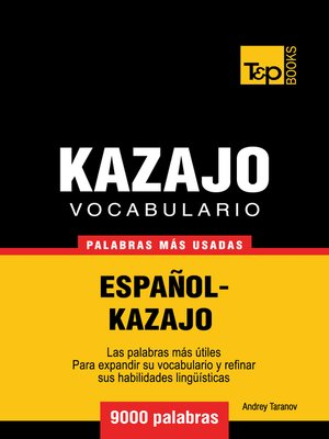 cover image of Vocabulario Español-Kazajo
