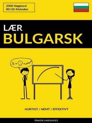 cover image of Lær Bulgarsk