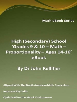 cover image of High (Secondary) School 'Grades 9 & 10--Math – Proportionality – Ages 14-16' eBook