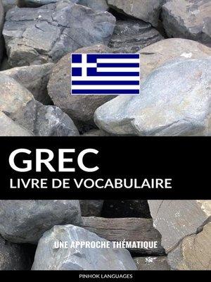 cover image of Livre de vocabulaire grec