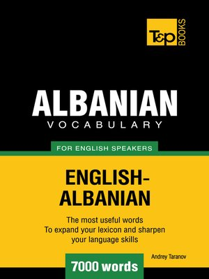 cover image of Albanian vocabulary for English speakers