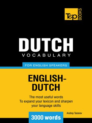 cover image of Dutch vocabulary for English speakers