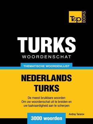 cover image of Thematische woordenschat Nederlands-Turks